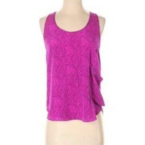 gemma pink silk racerback blouse tank Blouse